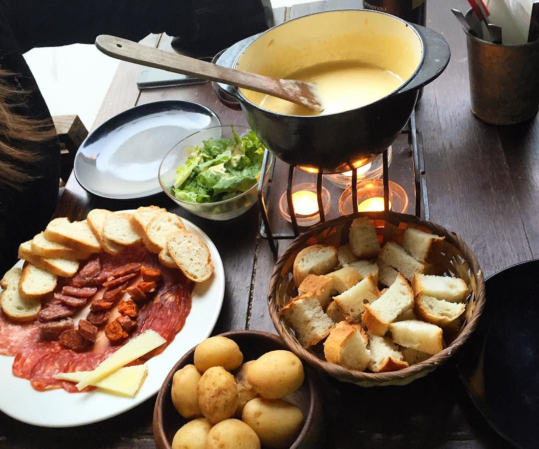Cheese fondue at Walluc in Islington, one of the best places to eat cheese in London
