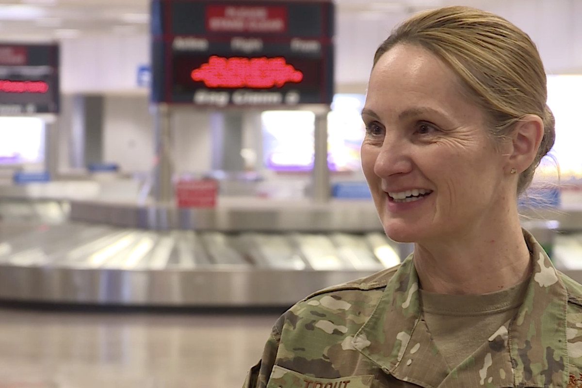 Hill Air Force medic Katherine Trout discusses traveling Sunday, April 5, 2020, to help New York City after being called up to fight COVID-19.