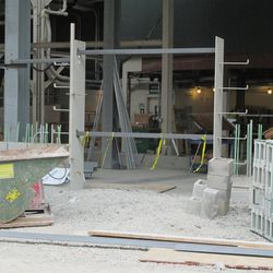 2:58 p.m. Frame for possible gate opening, along Waveland -