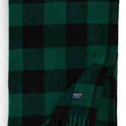 """Faribault Woolen Mill  <a href=""""http://shop.nordstrom.com/s/faribault-woolen-mill-buffalo-plaid-wool-throw-blanket/3781962?"""">Buffalo Plaid Wool Throw Blanket</a>, $100"""
