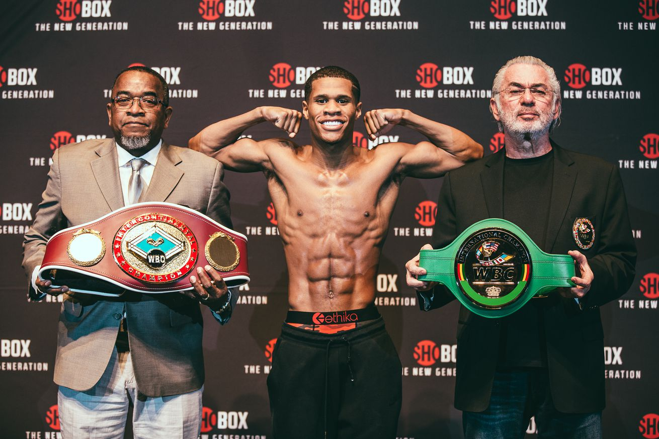 Haney vs Ndongeni Weigh In 1.0 - Haney-Moran now headlines May 25th DAZN show in Oxon Hill