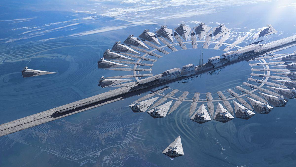 Imperial Base Planet-Star Destroyer Docking Base