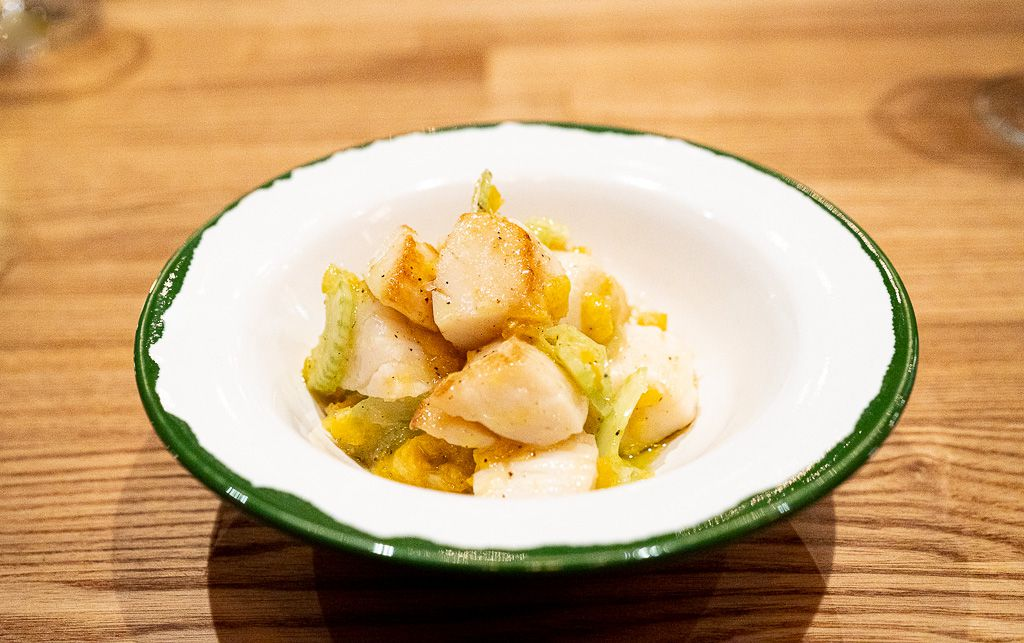 Cape May scallops with kumquats and celery from Reveler's Hour