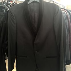 Men's suit jacket, size 44, $195 (from $675)
