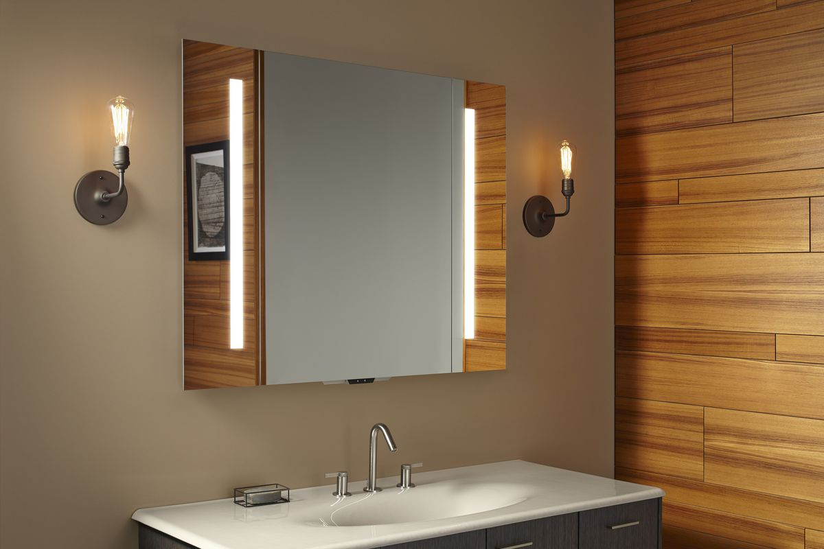 KOHLER Konnect and Verdera Voice Lighted Mirror for the Smart Bathroom