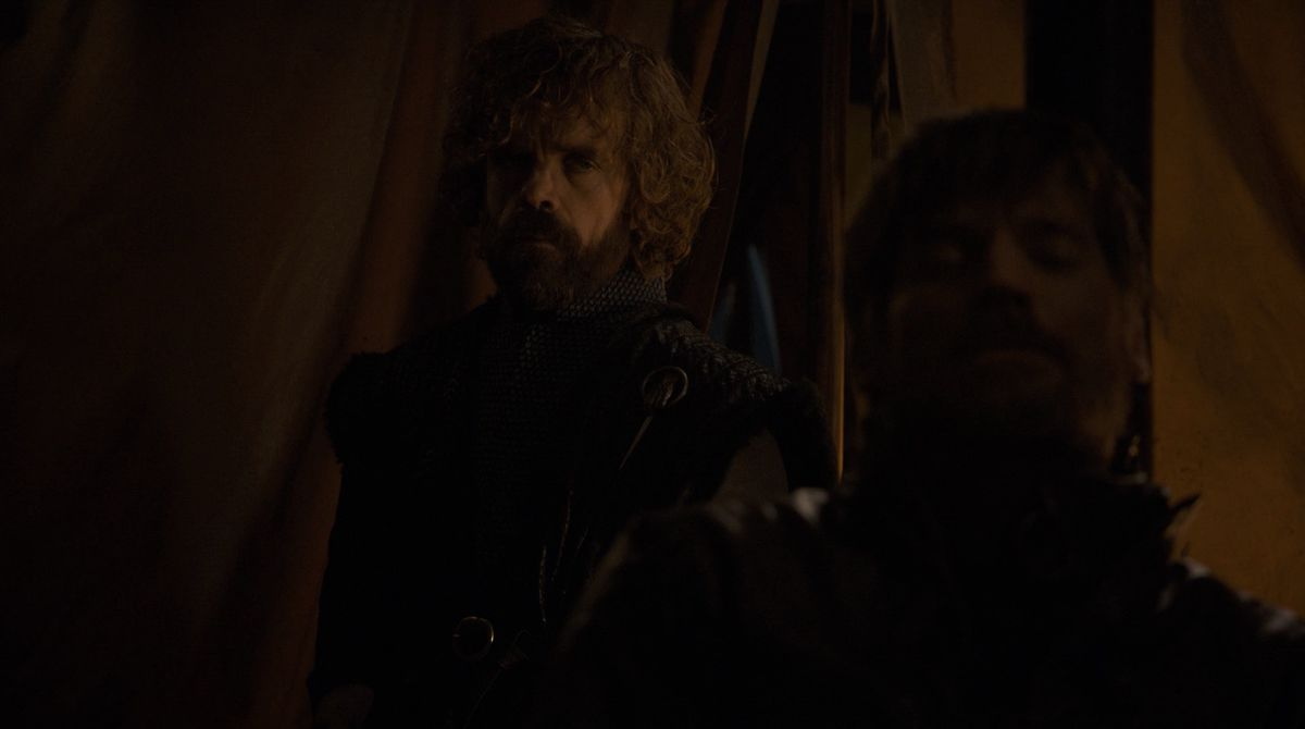 Game of Thrones S08E05 TYRION AND JAIME IN CAMP