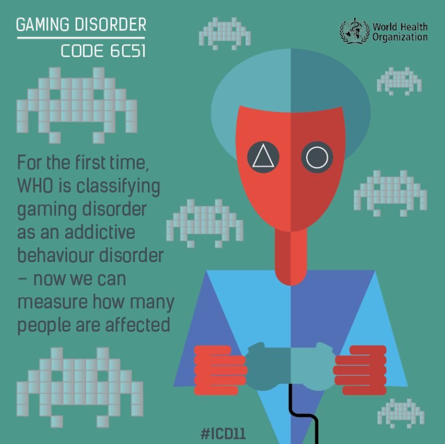 WHO classifies 'gaming disorder' as a mental health