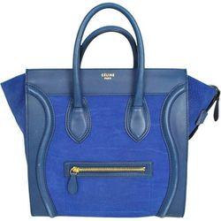 Céline two-tone lambskin luggage tote, $2,100