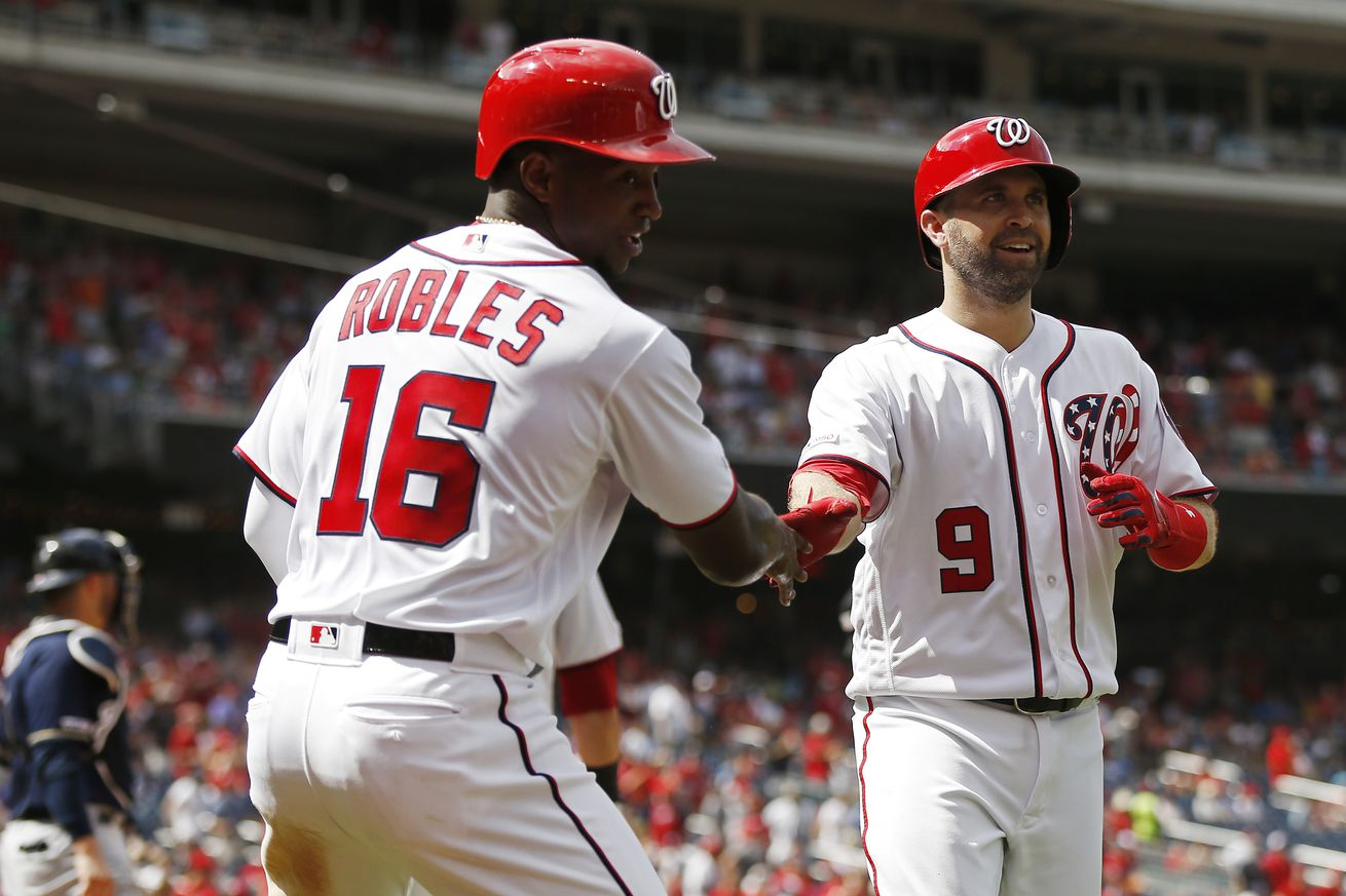 Washington Nationals crush series finale with Milwaukee Brewers; hit eight home runs in 16-8 win...