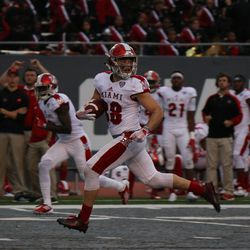 Jared Murphy running for the endzone