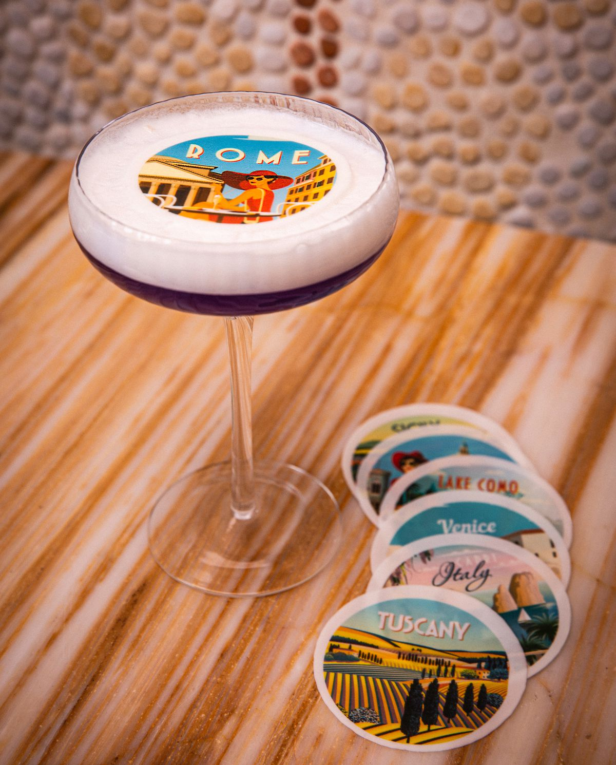 A cocktail in a coupe