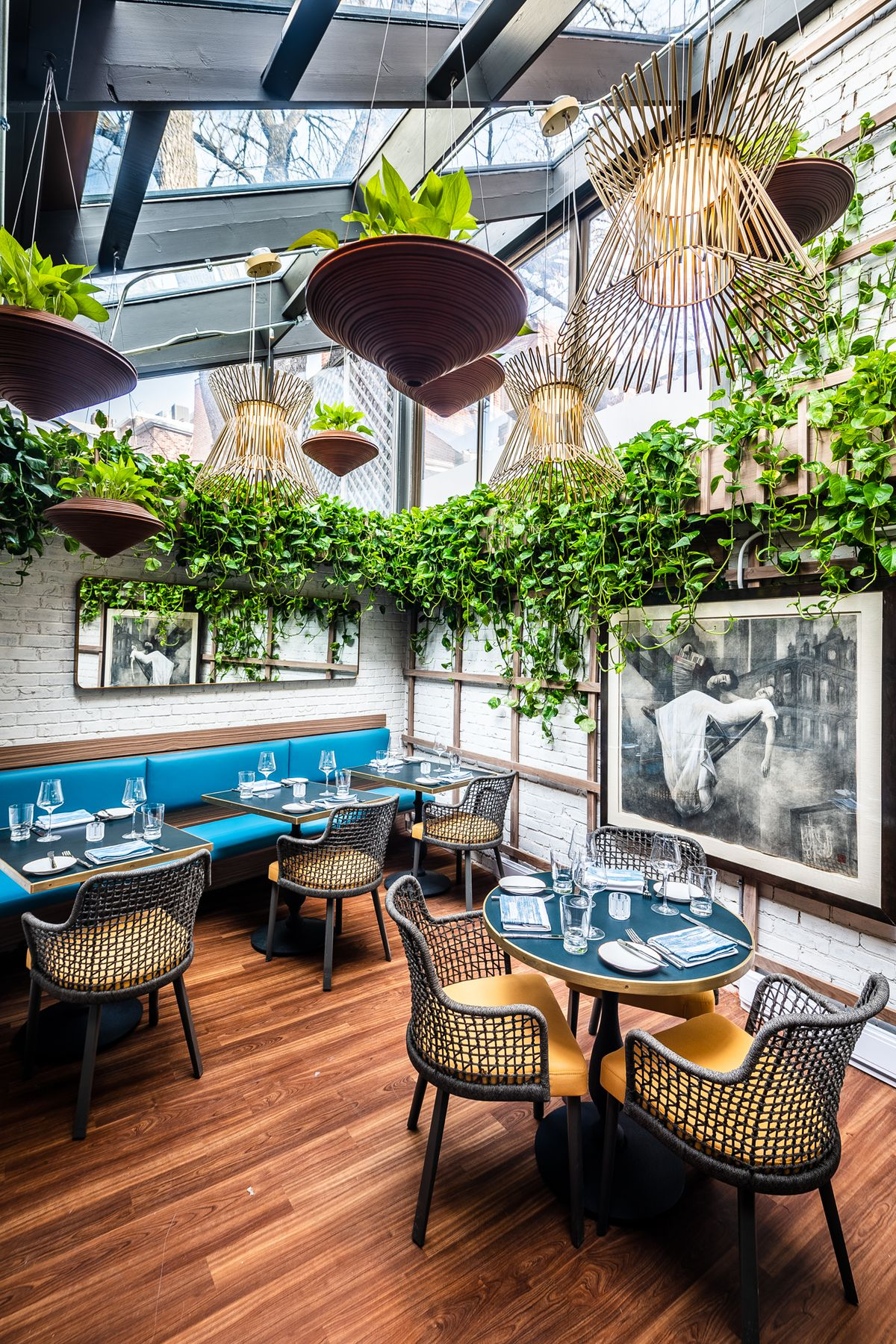 The Garden Room at Annabelle includes live plants and a skylight