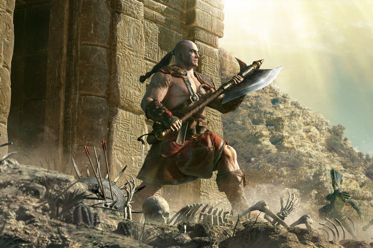 Diablo 2: Resurrected Barbarian artwork