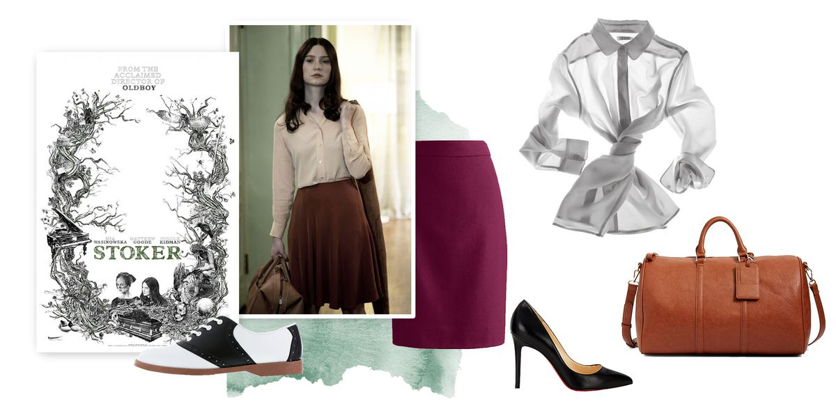 A collage of clothing inspired by the movie Stoker