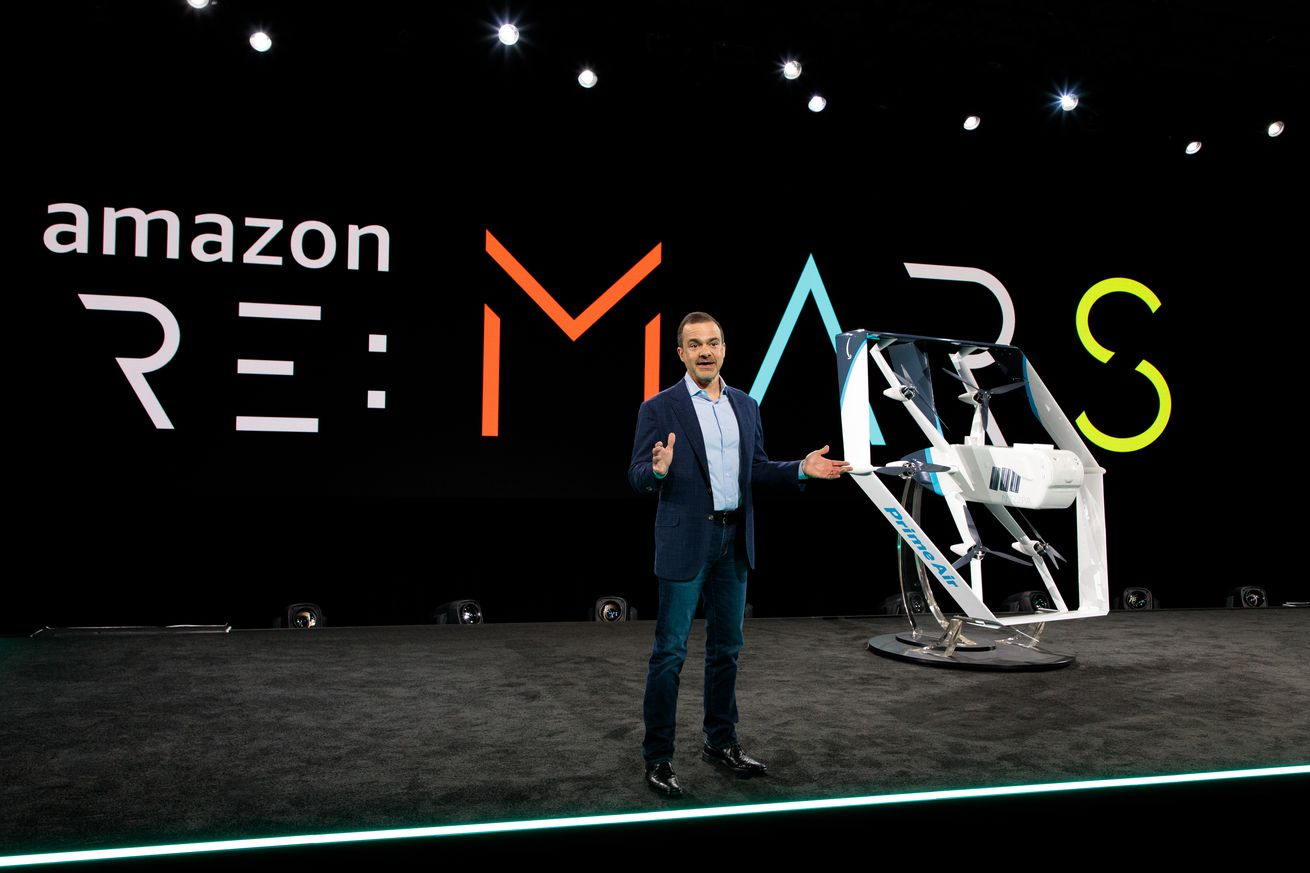 <em>Amazon recently showed off a new version of its delivery drone, which is yet to launch as a commercial service.</em>