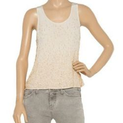 """<a href=""""http://www.theoutnet.com/product/242518"""">Embellished silk tank</a>, $158 (was $395)"""