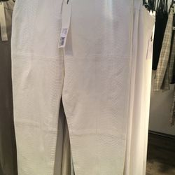 Pebbled leather pants, size 8, $195