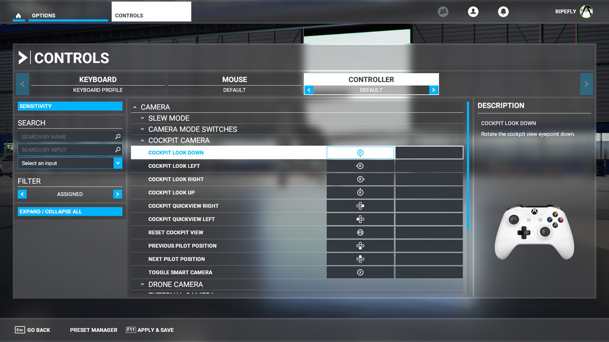 Microsoft Flight Simulator guide: How to invert look on a controller