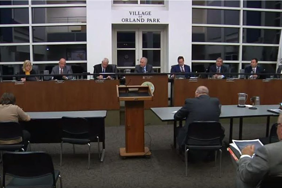 The Orland Park Village Board votes unanimously to ban the sale of marijuana within village limits.