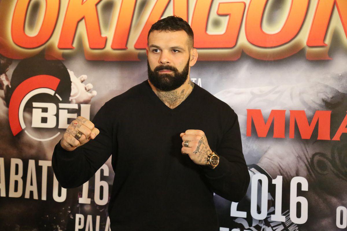 Alessio Sakara. Oktagon Kickboxing President Carlo Di Blasi...