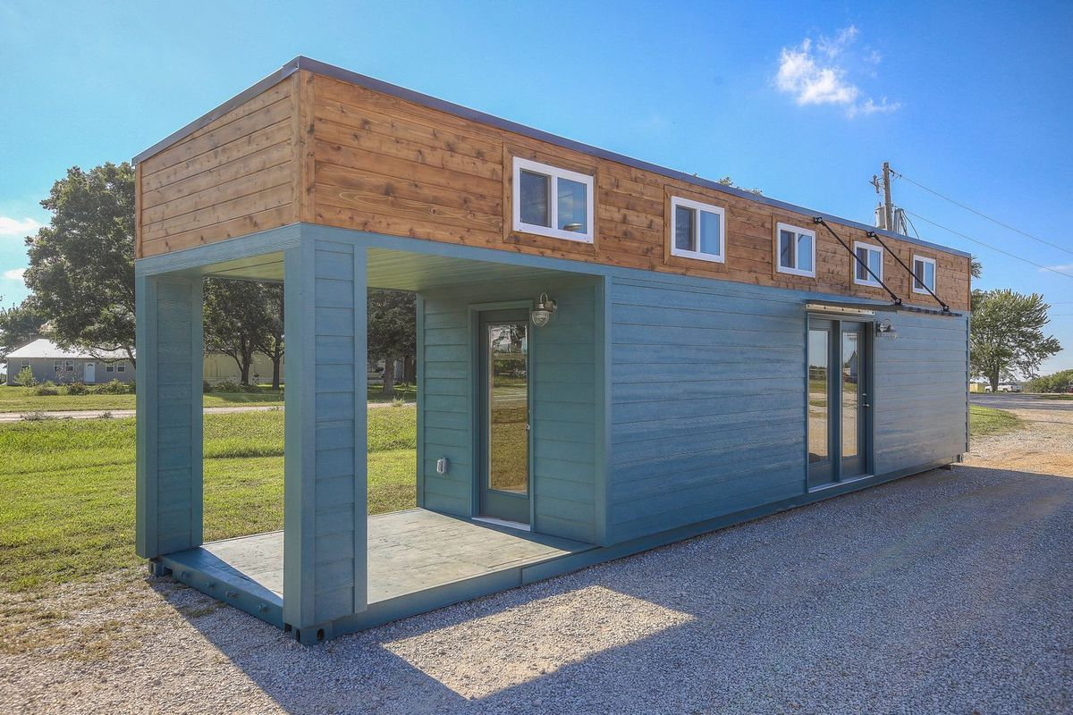 Shipping container houses 5 for sale right now curbed for Small home builders near me