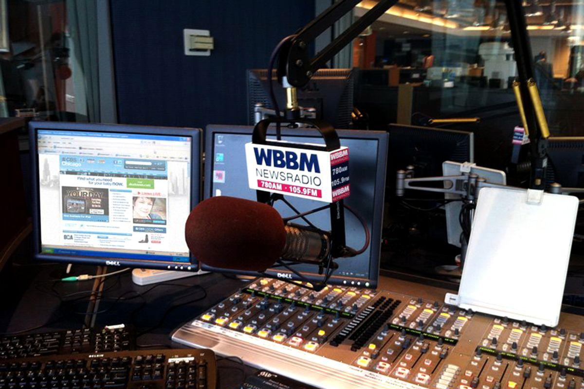 A WBBM Newsradio 780 studio