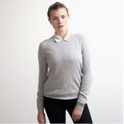 """<a href=""""https://www.everlane.com/collections/womens-cashmere-sweaters/products/womens-cashmere-grey"""">Everlane cashmere crew</a>, $120"""