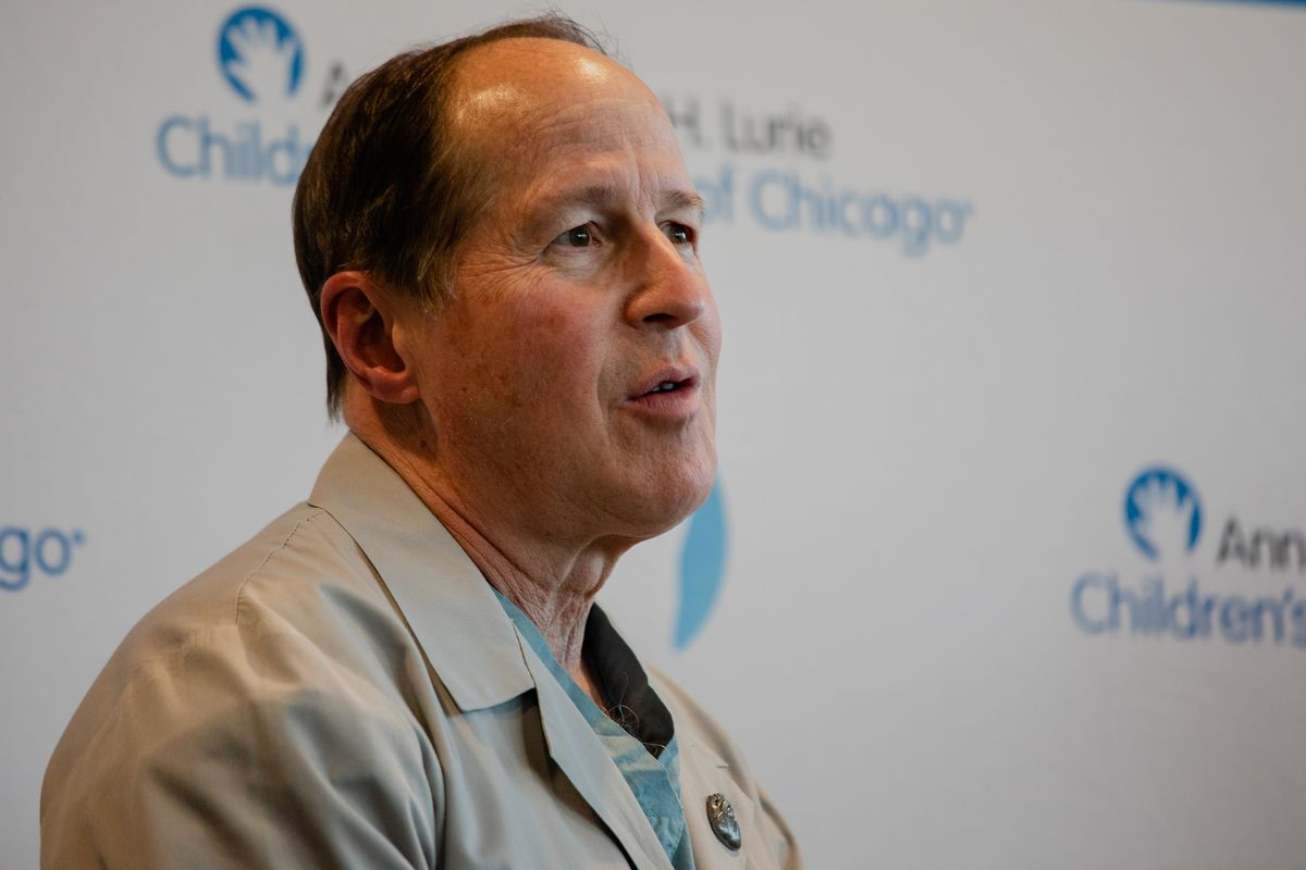 Surgeon Carl Backer, who performed three heart transplants in four days at Lurie's Children Hospital.