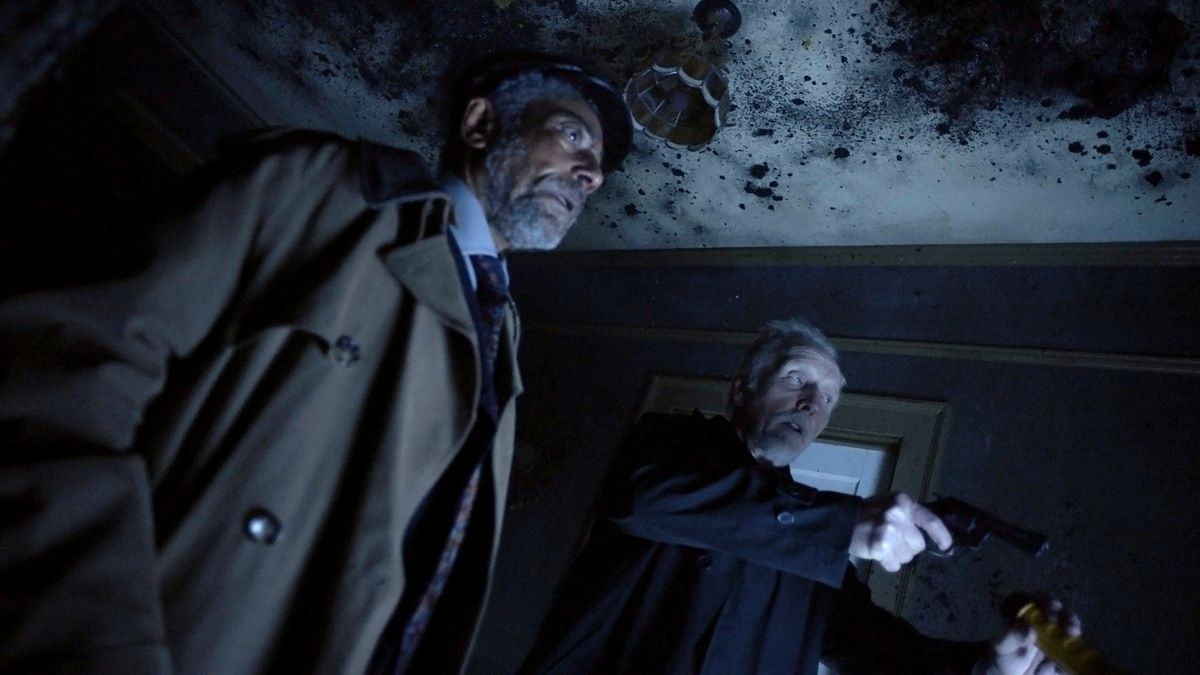 creepshow revival installment featuring giancarlo esposito and tobin bell investigating something creepy and blue-hued