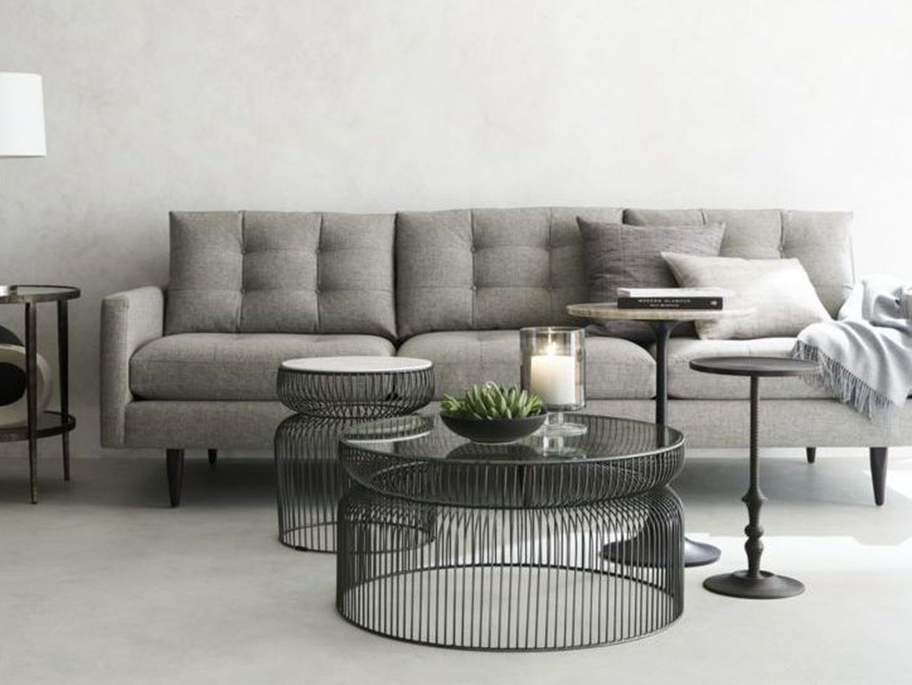 "<a class=""ql-link"" href=""https://www.crateandbarrel.com/spoke-glass-coffee-table/s481272"" target=""_blank"">Spoke Glass Coffee Table</a><strong>,</strong> Crate and Barrel, $299."