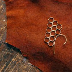 "Honeycomb Ear Cuff, <a href=""http://www.psyche-jewelry.com/product/honeycomb-ear-cuff"">$120</a>"