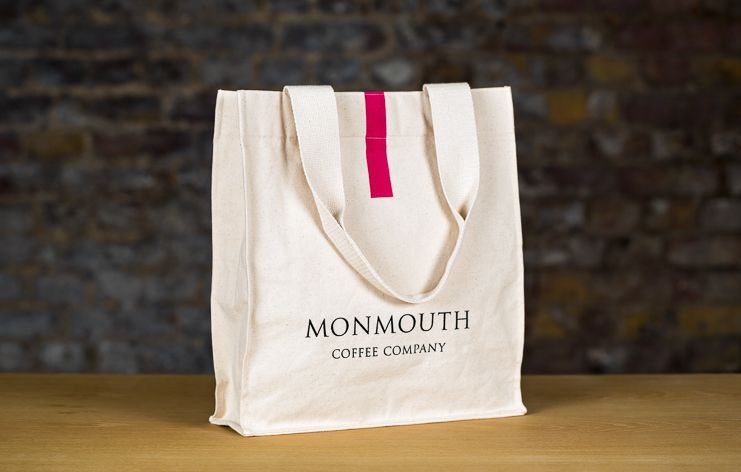 A Monmouth coffee branded tote bag
