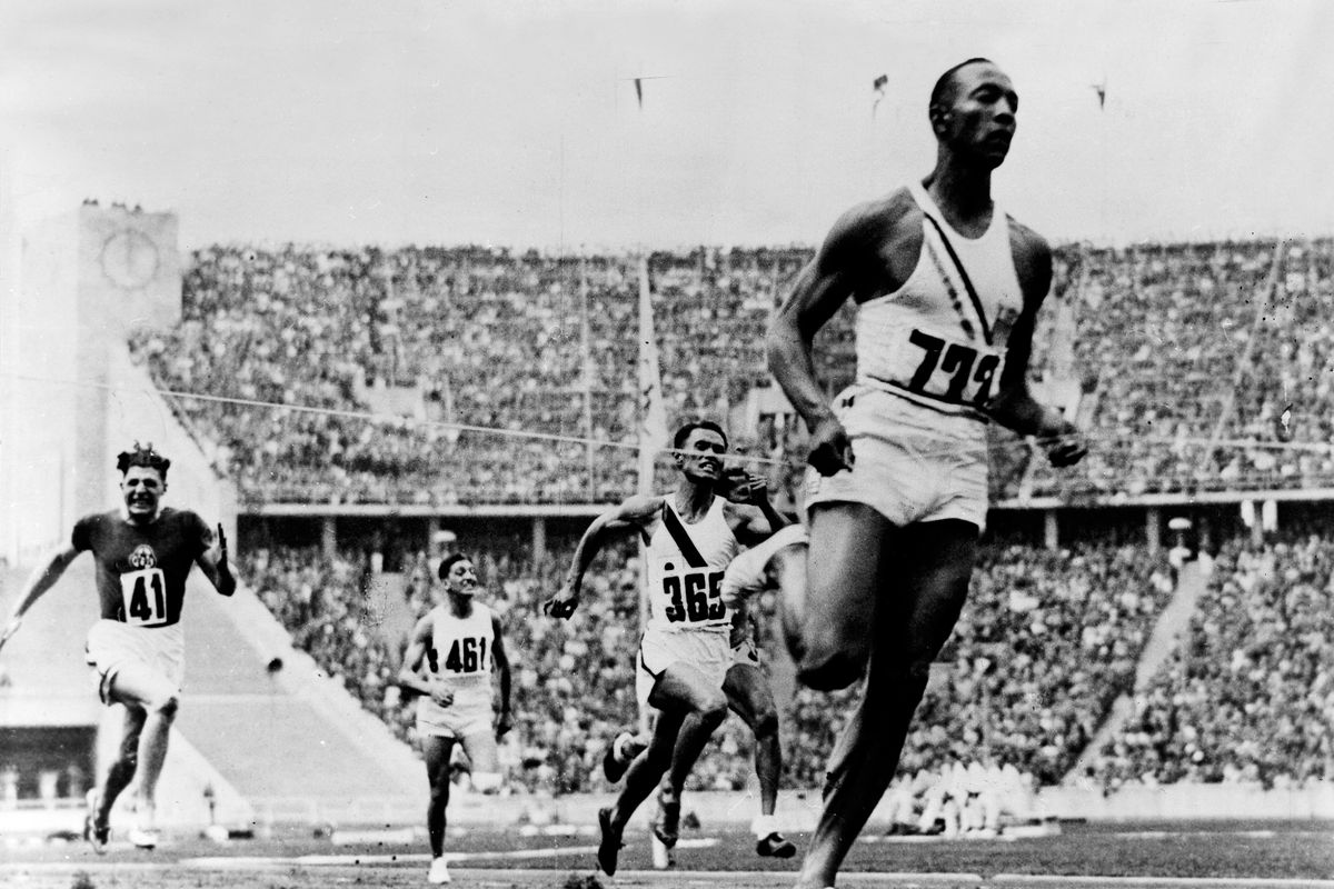 James Cleveland (Jesse) OWENS, (*1913-1980+) , American athlete - 1936 Summer