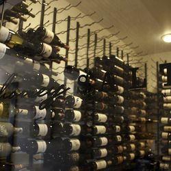 The wine cellar at Honey Salt.