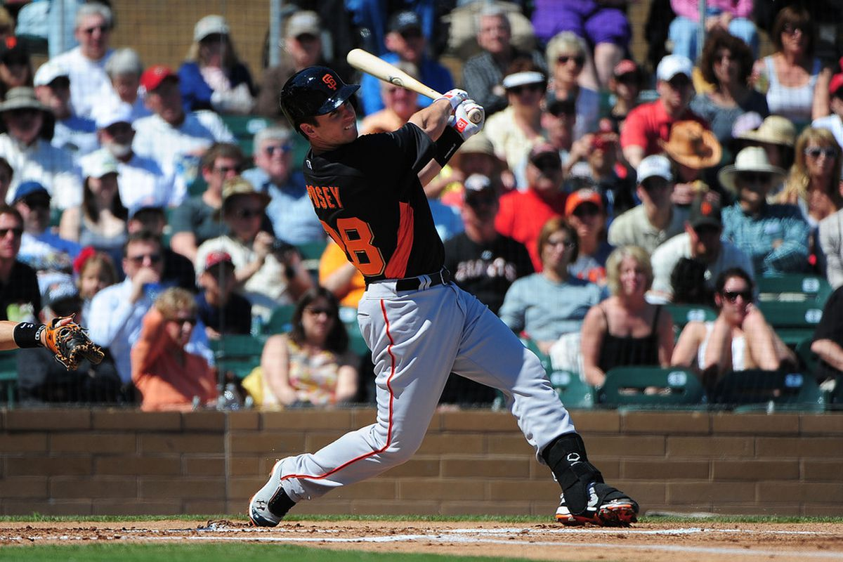 Buster Posey, #28 /, is skilled and we exhort him.