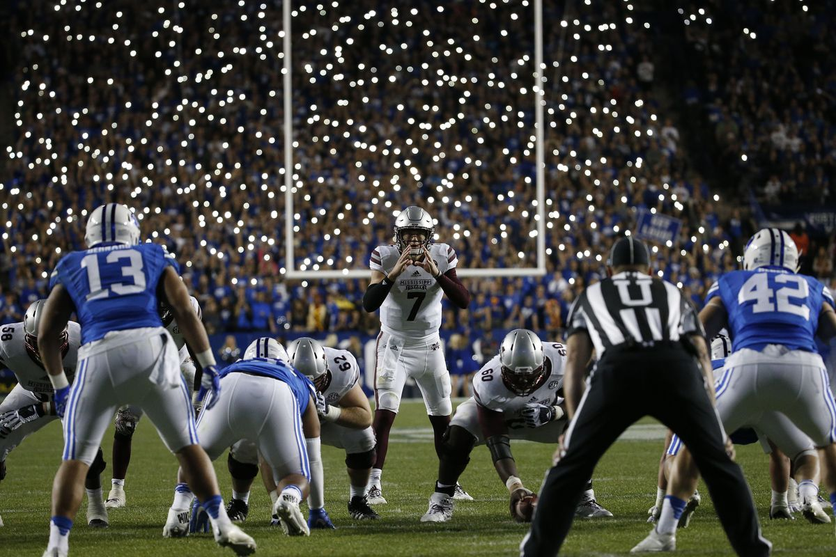 NCAA Football: Mississippi State at Brigham Young
