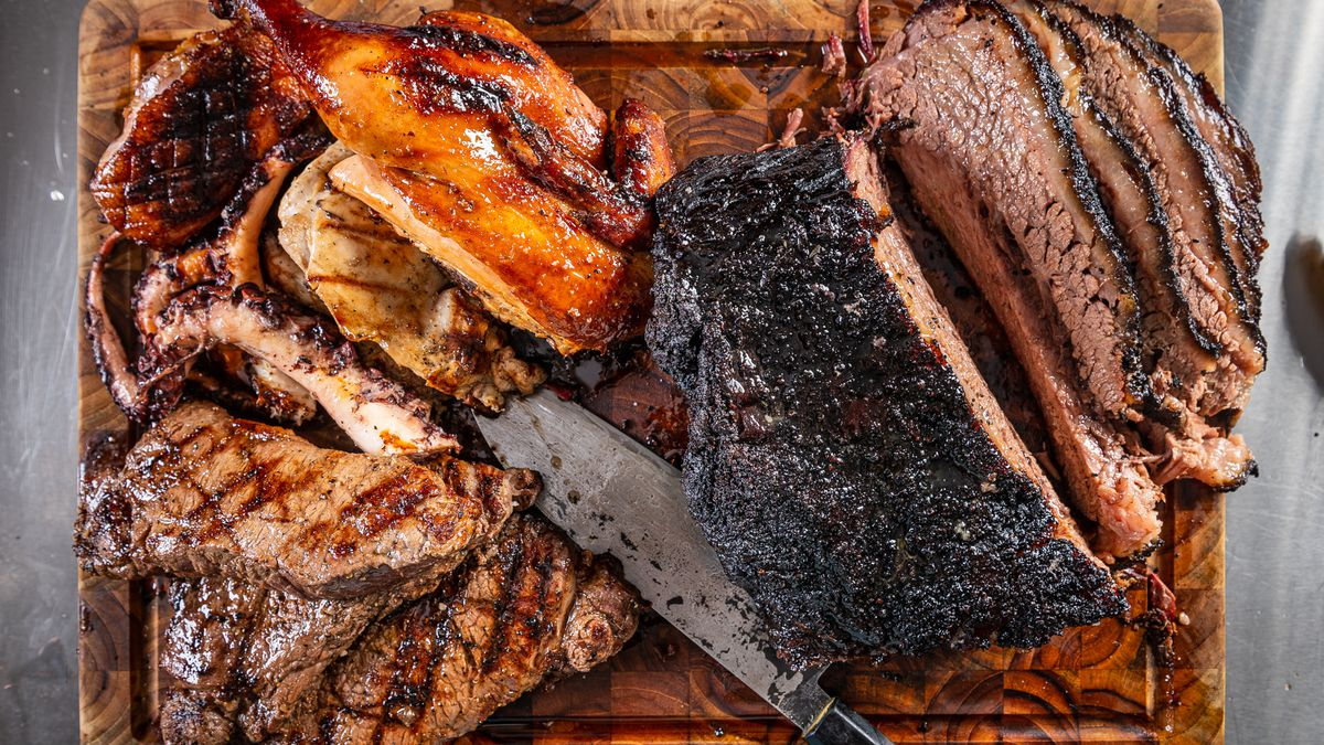 """Smoked brisket and duck or grilled steaks and chicken are available as the main items in """"meat and three"""" combos at Ruthie's All Day"""