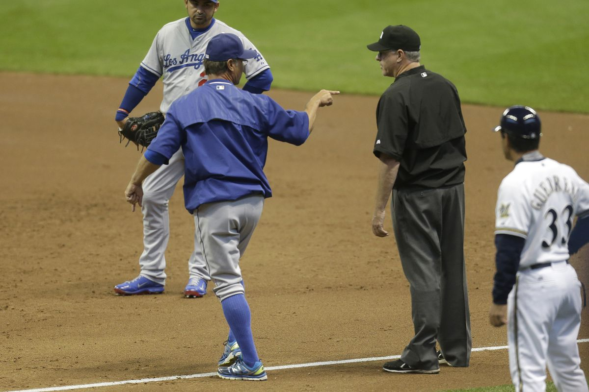 Don Mattingly was ejected for the first time all season. And this was when the Dodgers were leading!
