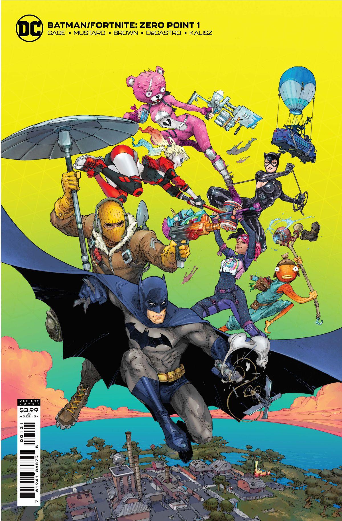Variant cover art for Batman/Fortnite: Zero Point #1