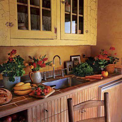 Crackle Paint Kitchen Cabinets
