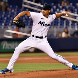 Jesús Luzardo, Marlins starting pitcher on Tuesday