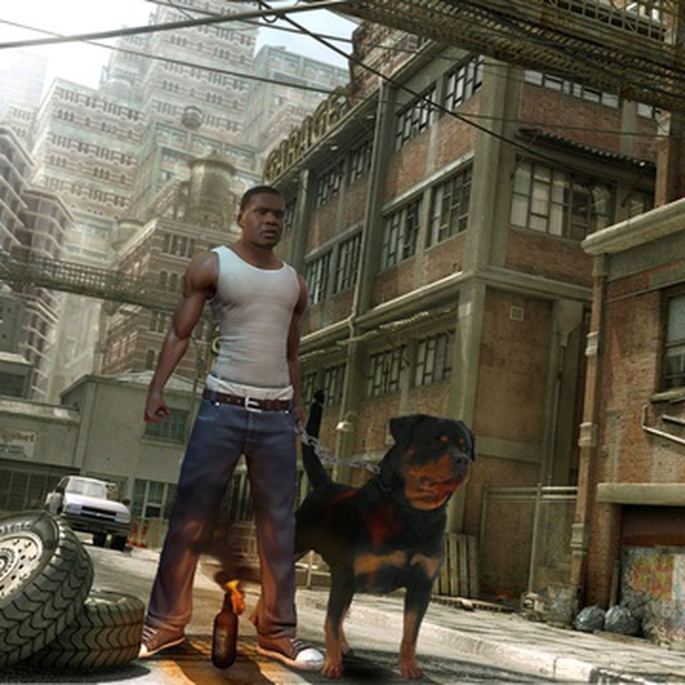 Train Franklin's mutt with Grand Theft Auto 5 app iFruit
