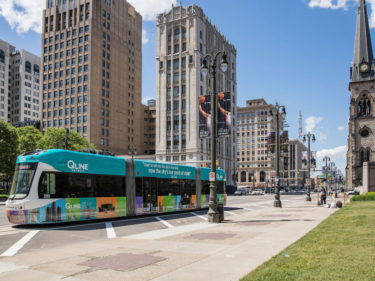 Detroit People Mover Map Route on