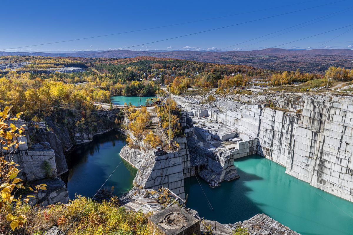 Rock of Ages granite quarry...