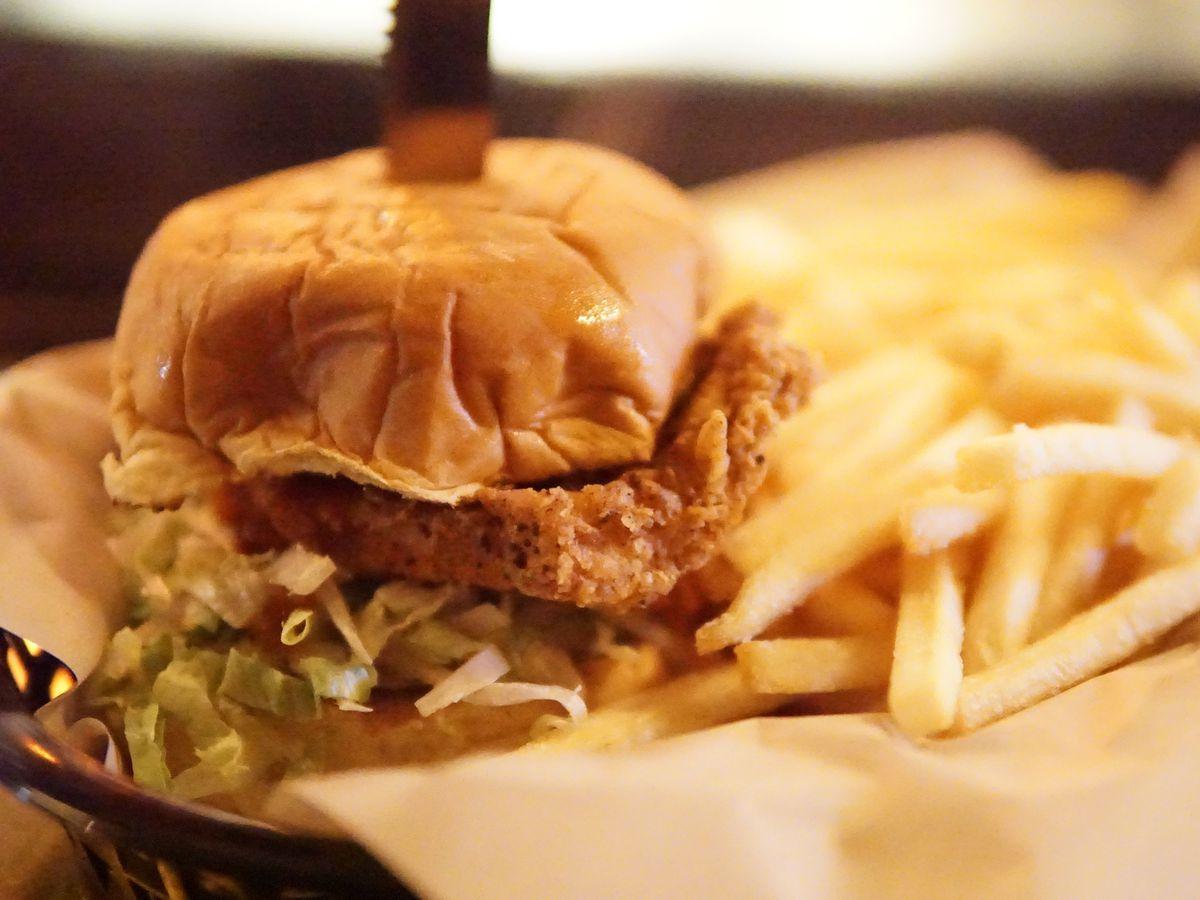 Draper Valley chicken, cole slaw, pickles, hot honey sauce