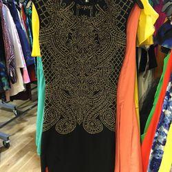 RVN Scroll Down sheath dress, $129 (was $525)
