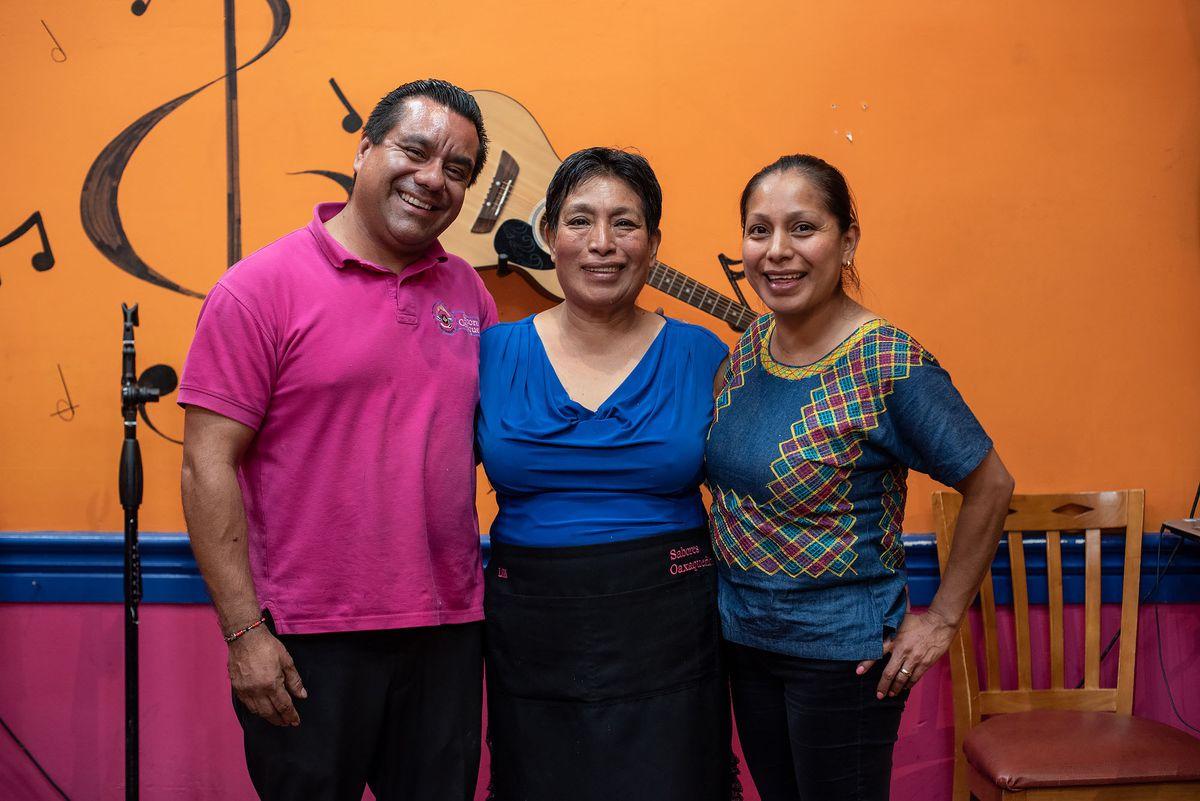 Valentin Granja, Dominga Velasco Rodriguez Velasco, and Analilia Granja at Sabores Oaxaquenos.