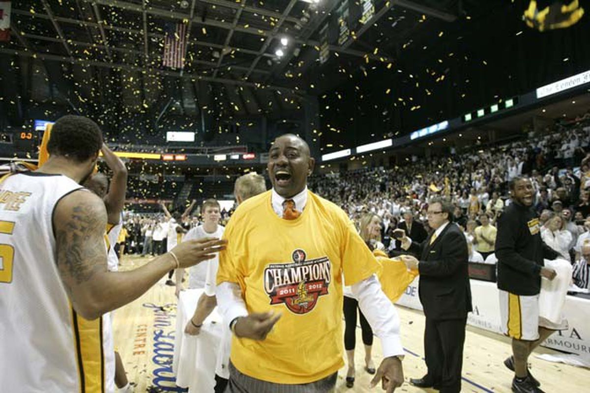 London head coach Michael Ray Richardson is all smiles after the Lightning took the first ever NBL Canada championship in March.  Could expansion be on the horizon for the league?  <em>(Image courtesy of NBL Canada)</em>