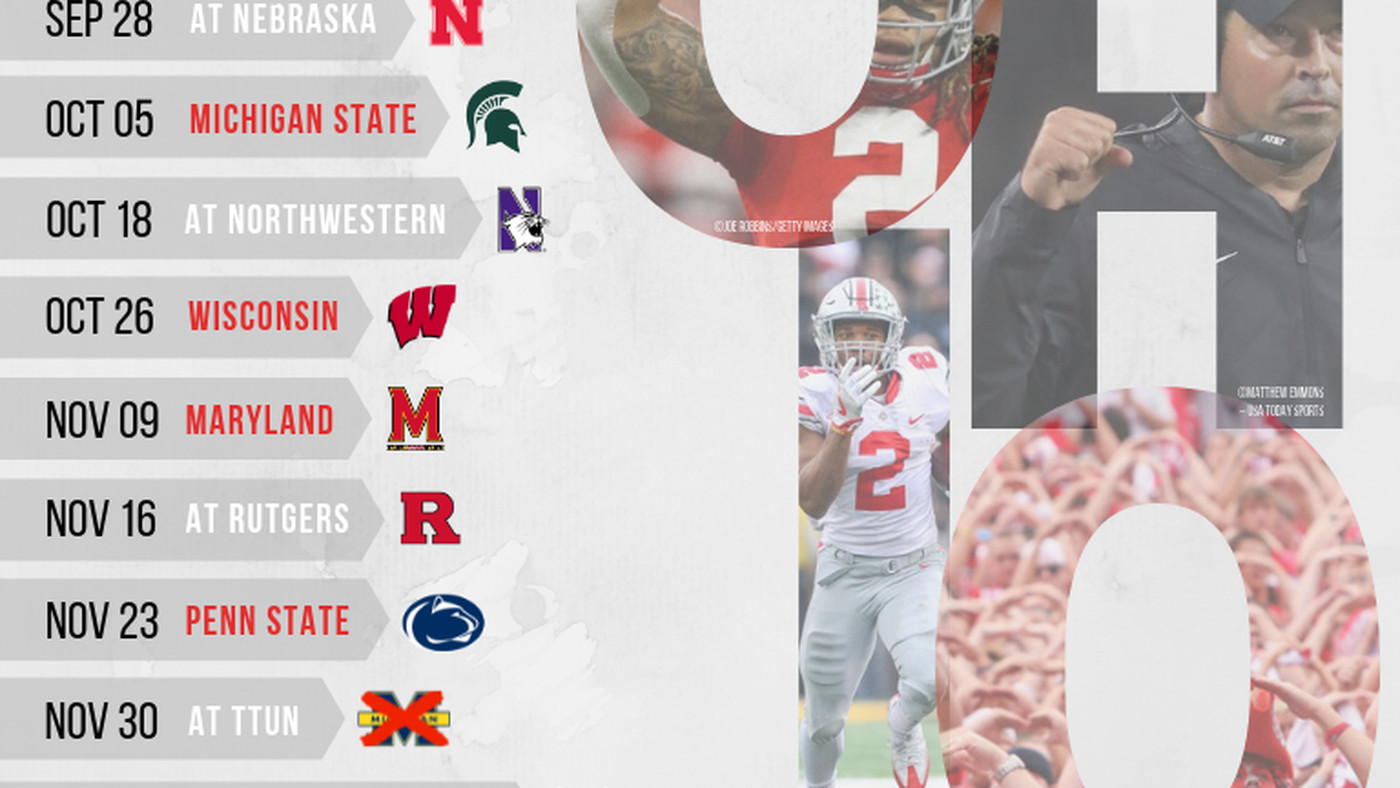Penn State Home Football Schedule 2020.Printable 2019 Ohio State Football Schedule Land Grant