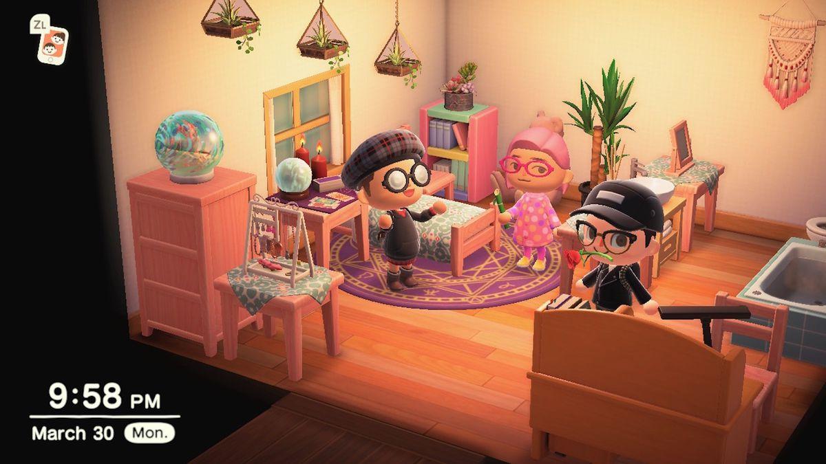 Some players enjoying Animal Crossing: New Horizons.